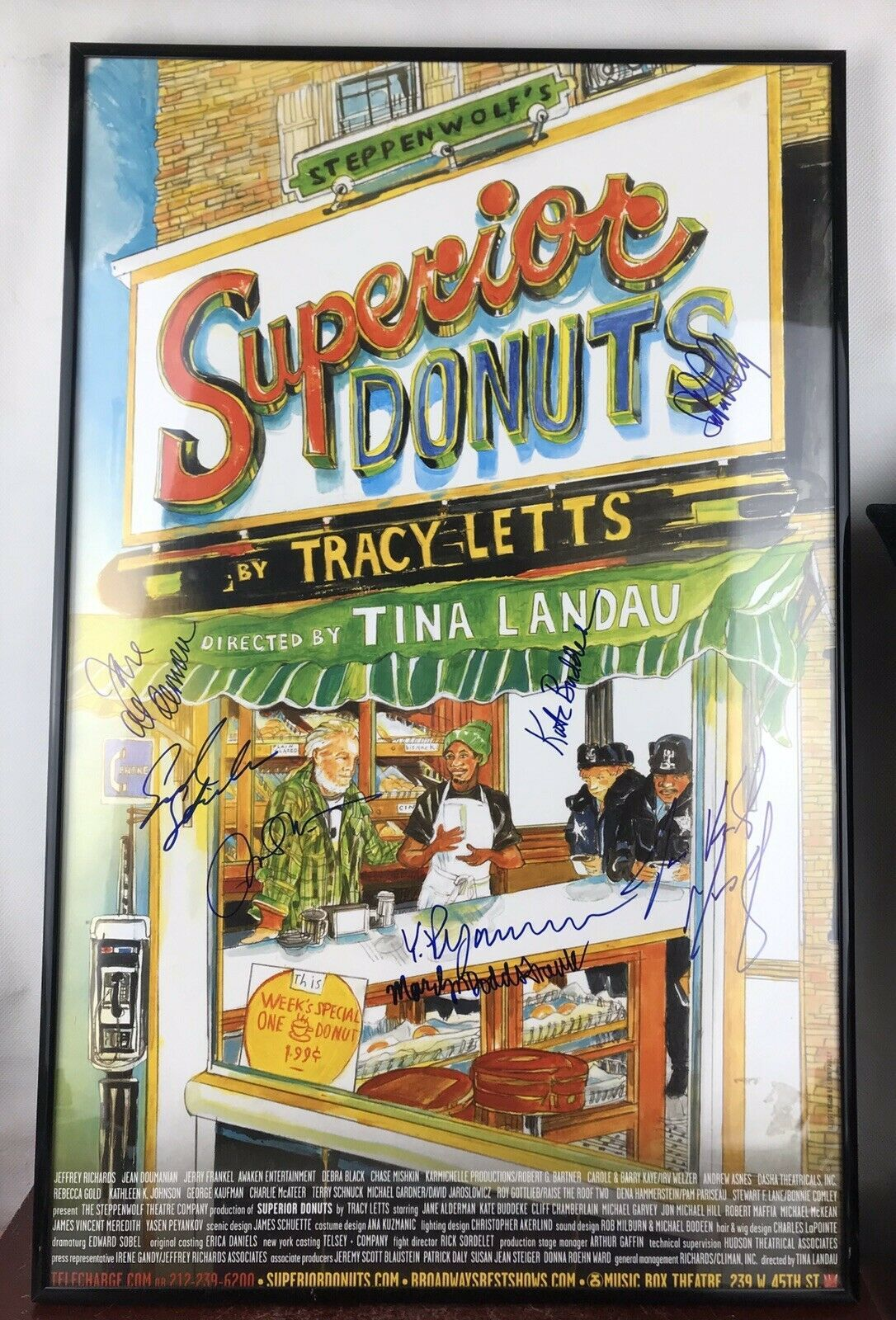 Primary image for Superior Donuts / 14 x 22 Window Card poster Broadway Signed/framed