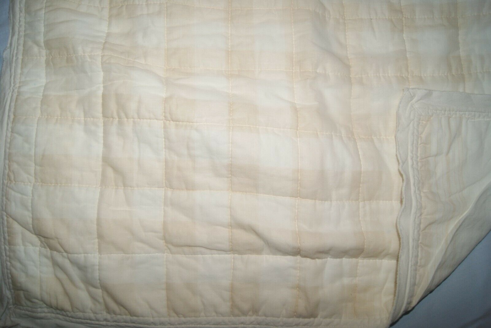 Threshold STANDARD Pillow Sham Quilted Cream Gingham - $11.40