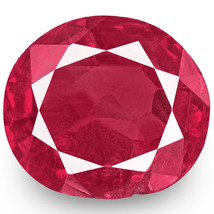 IGI Certified BURMA Ruby 0.59 Cts Natural Untreated Pinkish Red Oval - $369.00