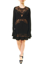 For Love & Lemons Women's New Valentina Mini Dress Black M RRP $295 BCF612 - $89.04