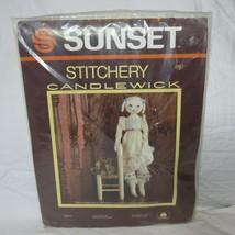 Sunset Stitchery Candlewick Kit Emily Rabbit Rag Doll #2867 L Mc Roden V... - $17.59