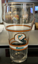 Miami Dolphins Glass Coke Cola Cola Vintage Collectible 15 oz - $12.49