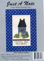 Friends And Neighbors Just A Note Greeting Card Cross Stitch Kit NEW - $1.77
