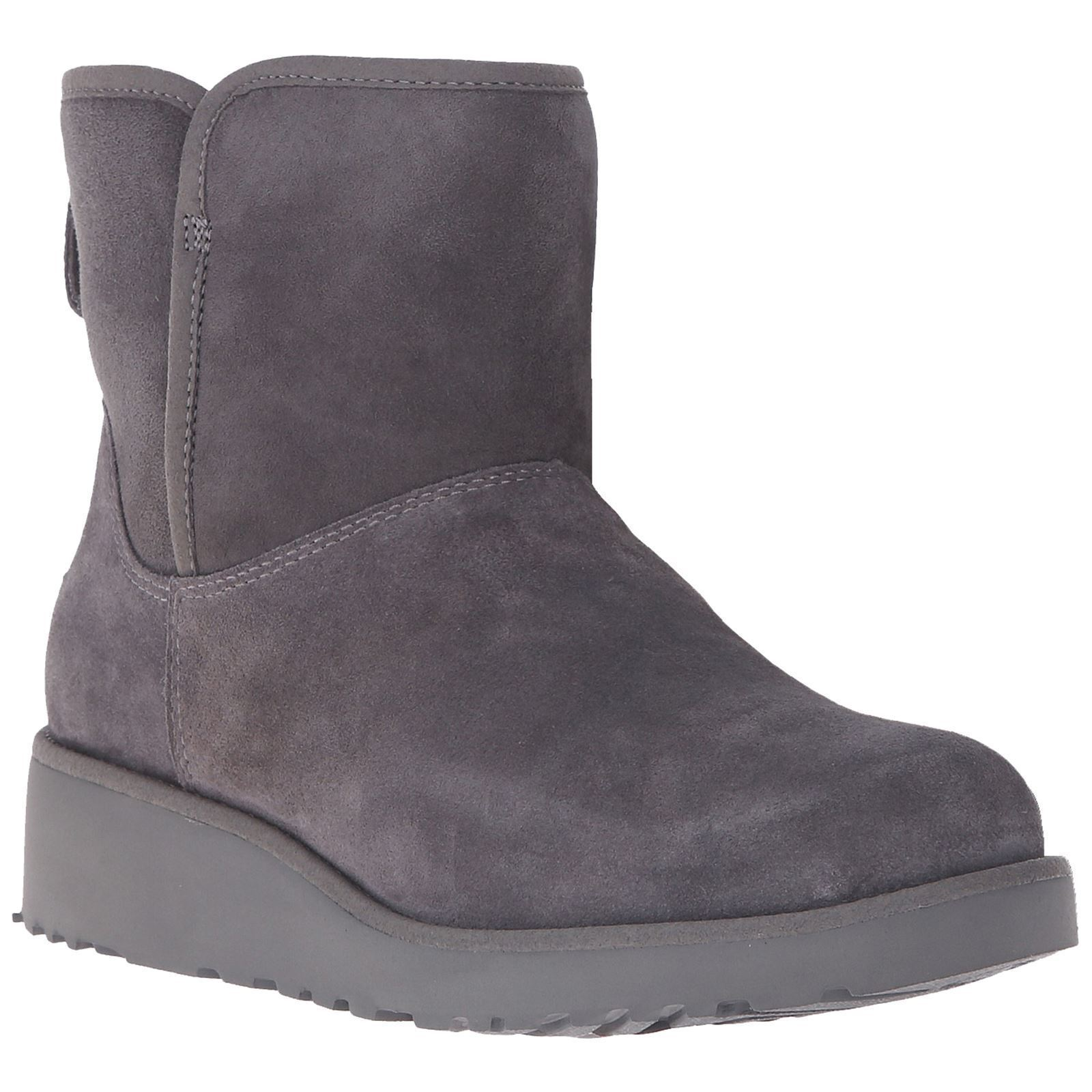 UGG Women's Grey Suede Sheepskin Kristin Treadlite Snow Winter Boots New in Box