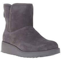 UGG Women's Grey Suede Sheepskin Kristin Treadlite Snow Winter Boots New in Box image 1