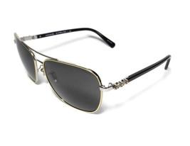 NEW COACH Gold Black Gold Rhinestone Jewel Flower Sunglasses HC7073 + Case - $125.99