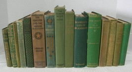 Antique Vintage Book Lot OLD RARE BOOKS Library Shelf Decor Display 1867... - $63.04