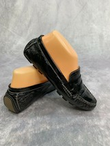Cole Haan Air Womens size 6.5 Black Patent Leather Slip On Loafer Shoes - $35.24