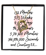 11th Anniversary Message Card Necklace, 11 Year and Counting Anniversary  - £21.78 GBP