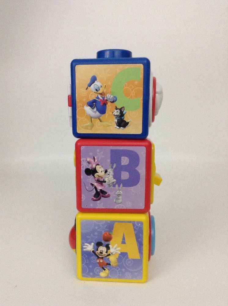 Mickey Mouse Clubhouse Lot of 3 Activity Blocks For Babies Toddlers Toy