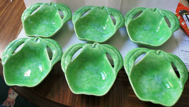 Vintage Green Pear Shaped Dishes - Enchanto Co. - B112-California USA - ... - $42.00