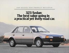 1989 Mazda 323 base sedan sales brochure sheet US 89 - $6.00