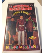 VHS~MARCH OF THE WOODEN SOLDIERS~LAUREL & HARDY~ORIGINAL BABES IN TOYLAND~ - $12.86