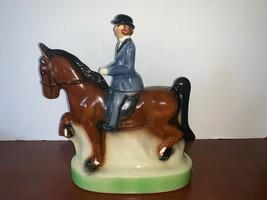 Vintage 1974 Heritage China Ezra Brooks Horse & Rider Decanter Liquor Bottle 185 - $70.00