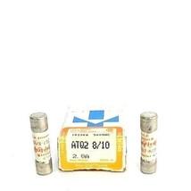 LOT OF 12 NEW GOULD SHAWMUT ATQ2 8/10 AMP-TRAP FUSES ATQ2810, 2.8A