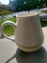 """Vintage Franciscan Earthware Pottery Hacienda Gold 32oz Pitcher 7""""H tv mark - $19.99"""