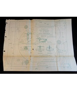 TEMPLATE for GARRARD A.T 60 SERIES AUTO TURNTABLE Blueprint Part No. 726... - $25.73