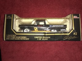 1957 Ford Ranchero Rusty Wallace #2 Die Cast Bank 1/24 Scale W. Key - $12.88