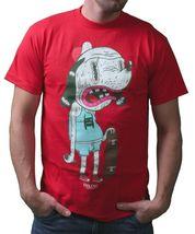 IM KING Mens White or Red Skateboarding Drunkies Dog T-Shirt USA Made NWT image 5