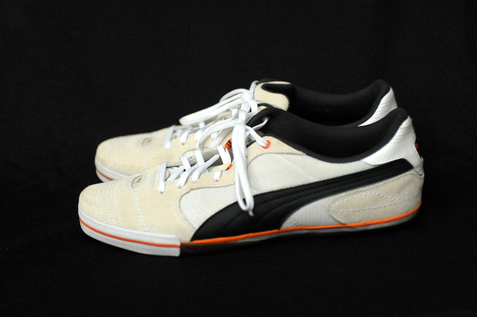 6533347c61d510 Puma Leather Textile Sneakers US Men s 11 White Beige Blue  Worn Once