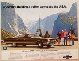 1971 Print Ad The 1972 Chevrolet Caprice Sedan Yosemite National Park - $9.41