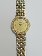 Longines 18K Yellow Gold Women's Diamond Wristwatch. 34 Diamonds. Link Band. - $1,781.99
