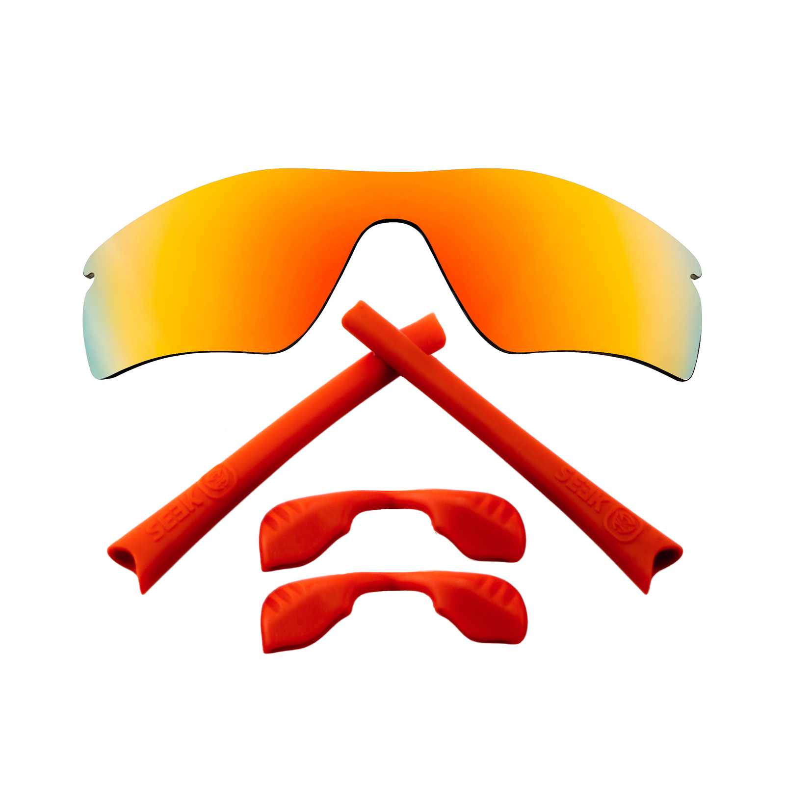Primary image for Replacement Lenses & Kit for Oakley Radar Path Red Mirror & Red Anti-Scratch