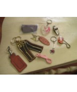 Key Chains / Rings , Lot of 10 , Vintage , Assorted - $19.91