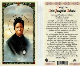 Prayer Saint Josephine Bakhita Card EB284 - Daughter of Africa Universal... - $2.79
