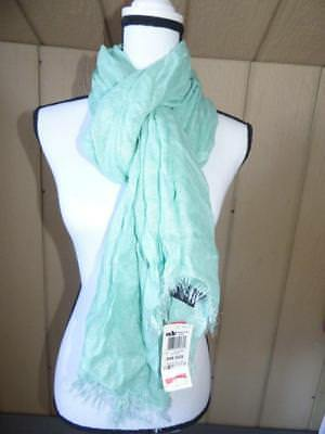 Style&Co Women's evening Wrap Scarf, Metallic Shimmer Soft Mint