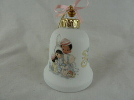 PRECIOUS MOMENTS BELL Shaped ORNAMENT Joyous Holidays In Mint Condition ... - $7.91