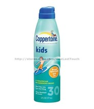 COPPERTONE Sunscreen KIDS SPF 30 Water Resistant CONTINUOUS SPRAY 6 oz C... - $10.99