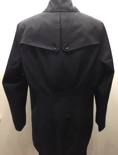 Calvin Klein Women Trench Coat Black Large