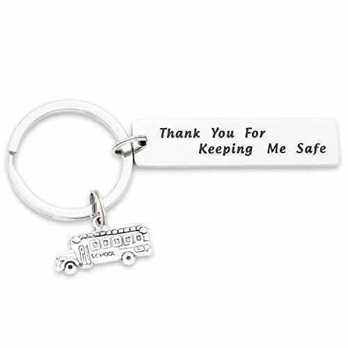 School Bus Driver Appreciation Keychain Thank You for Keeping Me Safe Bus Driver