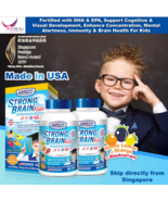 2 boxes of US Clinicals Strong Brain Kids 90 chewable burstlets DHA EPA   - $184.99