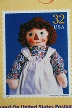 Reproduction Georgene Raggedy Ann doll Commemorative Stamp 1997 by Applause - $71.27