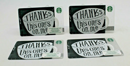 Starbucks Coffee 2015 Gift Card THANKS This one's on Me Zero Balance Set... - $12.77