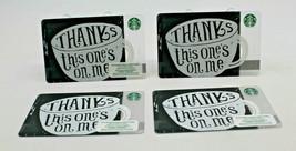 Starbucks Coffee 2015 Gift Card THANKS This one's on Me Zero Balance Set... - $12.77