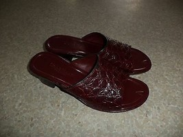 COLE HAAN  dark red leather open toe sandals sz 6.5B - $29.69