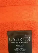 Lauren Ralph Lauren Westcott Bath Towel Summer Orange - $35.99