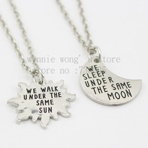 2015 Long Distance Relationship Couples Set Under the same Moon Under the same S - $9.78