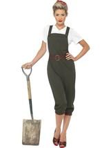 WW2 LAND GIRL COSTUME, 1940'S WARTIME FANCY DRESS, SMALL 8-10, WOMENS, A... - $41.20