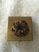 Vintage Makeup Compacts from the 1930s-1950s Gold Finish Pill Box - $28.05