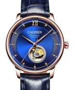 Skeleton Tourbillon Automatic Men's Watch Business Luxury Sapphire Cryst... - €427,99 EUR