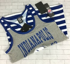 Indianapolis Colts Striped Tank Top Women Sz S Racerback NFL Team Appare... - $24.29