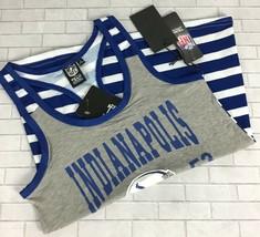 Indianapolis Colts Striped Tank Top Women Sz S Racerback NFL Team Apparel B29-24 - $24.29