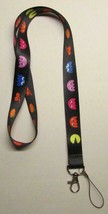 PACMAN Classic LANYARD KEY CHAIN Ring Keychain ID Holder NEW - $12.99