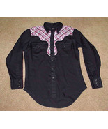 Western Long Sleeve Rockabilly Pearl Snap Shirt  - $10.00