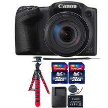 Canon PowerShot SX420 IS 20.0MP 42x Optical Zoom Lens Digital Camera Bla... - $224.07
