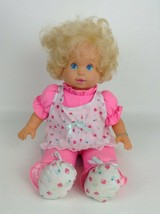"Baby Get Well Doll Vintage 1992 Tyco 16"" Talks and Lights Up Plush Body ... - $19.55"